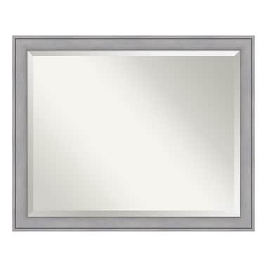 Amanti Art – Grand miroir de salle de bain pour armoire standard de 30 à 36 po, cérusé gris, 31 x 25 po (DSW3942015)