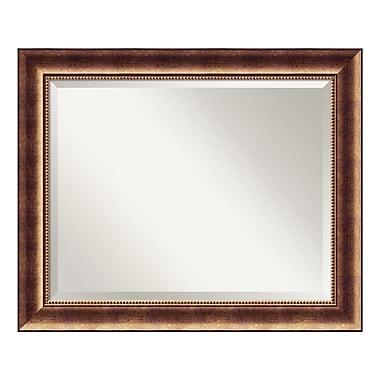 Amanti Art ? Grand miroir de salle de bain, pour armoire standard de 30 à 36 po, bronze Manhattan