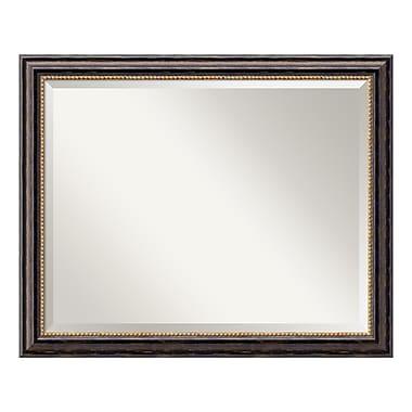 Amanti Art ? Grand miroir de salle de bain, pour armoire standard de 30 à 36 po, rustique toscan