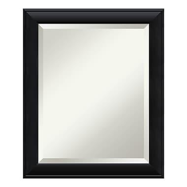 Amanti Art – Miroir de salle de bain moyen pour armoire standard de 24 à 28 po, noir Nero, 20 x 24 po (DSW3942025)