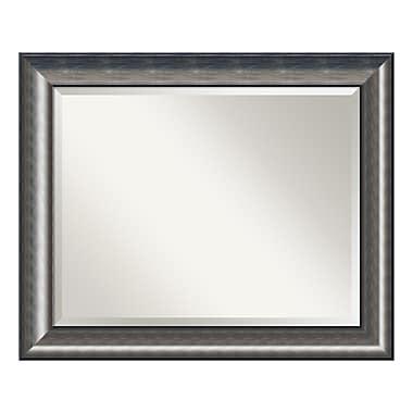 Amanti Art – Grand miroir de salle de bain pour armoire standard de 30 à 36 po, courbé argenté, 34 x 28 po (DSW3942036)