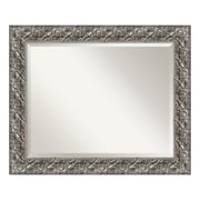 """Amanti Art Bathroom Mirror Large, Fits Standard 30"""" to 36"""" Cabinet, Silver Luxor"""