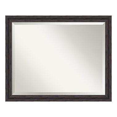 Amanti Art – Grand miroir de salle de bain, armoire standard de 30 à 36 po, cadre étroit pin rustique, 31 x 25 po (DSW3942041)