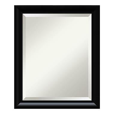 Amanti Art ? Miroir de salle de bain moyen pour armoire standard de 24 à 28 po, incurvé, noir Steinway
