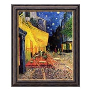 """Amanti Art Canvas Art Framed 'Cafe Terrace At Night, 1888' by Vincent van Gogh, 20"""" x 24"""" (DSW01537)"""