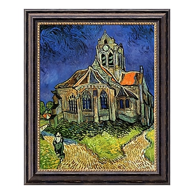 Amanti Art – Toile encadrée de « The Church at Auvers, 1890 » par Vincent Van Gogh, 20 x 24 po (DSW01531)