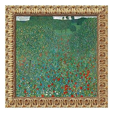 Amanti Art – Toile encadrée de « Field of Poppies (Campo di Papaveri) » par Gustav Klimt, 20 x 20 po (DSW01568)