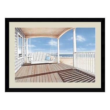 Amanti Art – Reproduction encadrée de « The Porch Swing » par Daniel Pollera, 43 x 32 po (DSW140904)