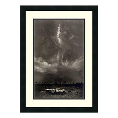Amanti Art – Impression encadrée « Sheep Under Clouds, 1958 » par Harold Feinstein, 20 x 27 po (DSW140488)