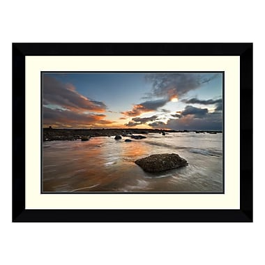 Amanti Art – Impression encadrée de « Sailcoats Sunset » par Robert Strachan, 32 x 24 po (DSW140691)