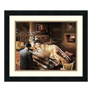 Amanti Art – Reproduction encadrée de « Sonata » par Edward Clay Wright, 22 x 19 po (DSW140526)