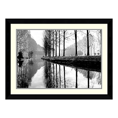 Amanti Art – Reproduction encadrée de « Canal, Normandy » de Bill Philip, 35 x 27 po (DSW115042)