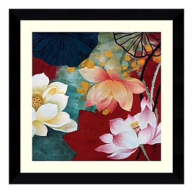 Amanti Art – Reproduction encadrée de « Lotus Dream I » par Hong Mi Lim, 27 x 27 po (DSW114853)
