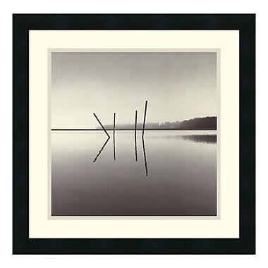 Amanti Art – Reprod encadrée de « Poles, Salt Ponds, Moss Landing, California, 1989 » par Michael Kenna, 20 x 20 po (DSW114415)