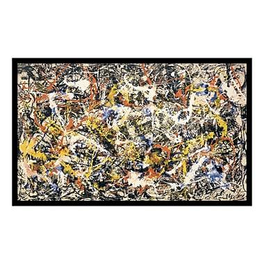 Amanti Art – Reproduction encadrée de « Convergence » par Jackson Pollock, 37 x 23 po (DSW114402)