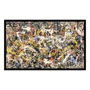 "Amanti Art Framed Art Print 'Convergence' by Jackson Pollock, 37"" x 23"" (DSW114402)"