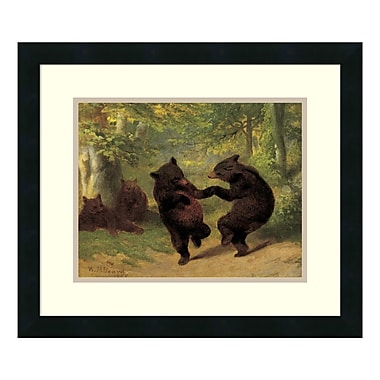 Amanti Art – Reproduction encadrée de « Dancing Bears » par William Beard, 21 x 18 po (DSW114184)