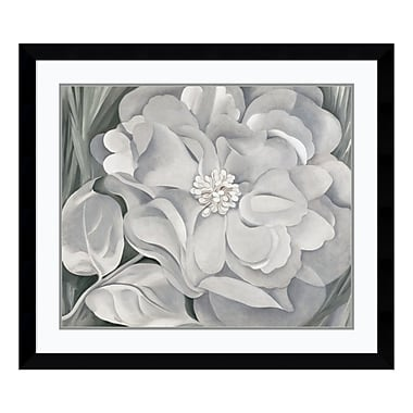Amanti Art – Reproduction encadrée de « The White Calico Flower, 1931 » par Georgia O'Keeffe, 39 x 34 po (DSW113592)