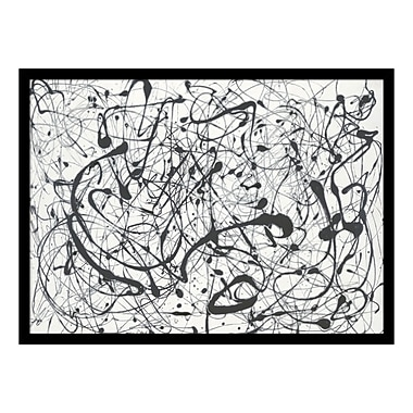 Amanti Art – Reproduction encadrée de « Number 14: Gray » par Jackson Pollock, 29 x 22 po (DSW113590)