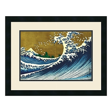 Amanti Art Framed Art Print 'Big Wave (from 100 views of Mt. Fuji)' by Katsushika Hokusai, 25