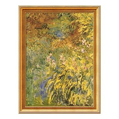 Amanti Art – Imprimé encadré « Les iris » par Claude Monet, 24 x 32 po (DSW01466)