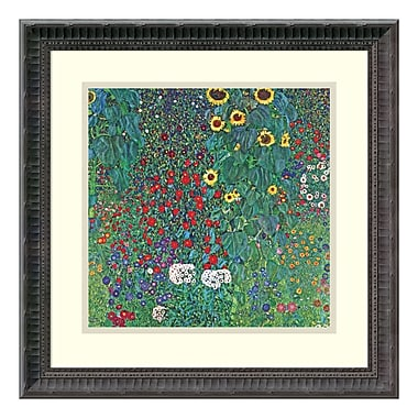 Amanti Art Framed Art Print 'Farm Garden with Sunflowers, c. 1906' by Gustav Klimt, 19