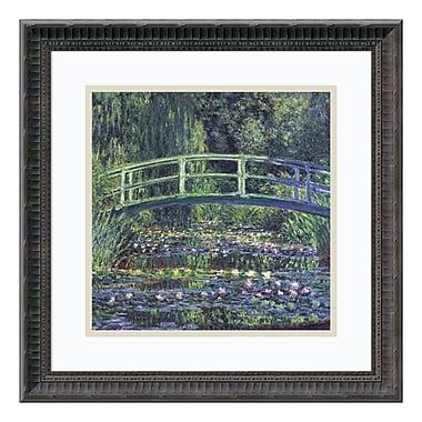 Amanti Art – Imprimé encadré « Le bassin aux nymphéas, 1899 (bleu) » par Claude Monet, 19 x 19 po (DSW113978)