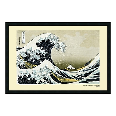 Amanti Art Framed Art Print The Great Wave off the Coast of Kanagawa, 1831 by Katsushika Hokusai, 38