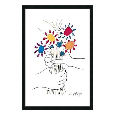 Amanti Art – Imprimé encadré « Le Bouquet (fleurs et mains) » par Pablo Picasso, 26 x 38 po (DSW01613)