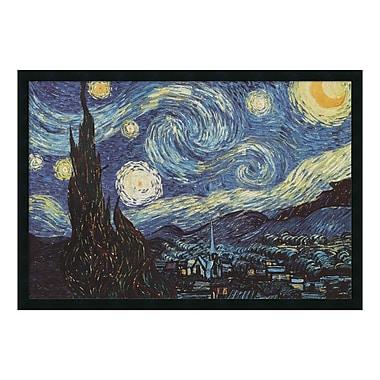 Amanti Art – Reproduction encadrée de « La nuit étoilée, 1889 » de Vincent Van Gogh, 38 x 26 po (DSW01609)
