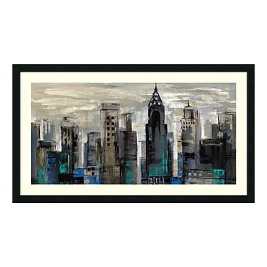 Amanti Art – Reproduction encadrée de « New York Moment » par Silvia Vassileva, 42 x 24 po (DSW405449)
