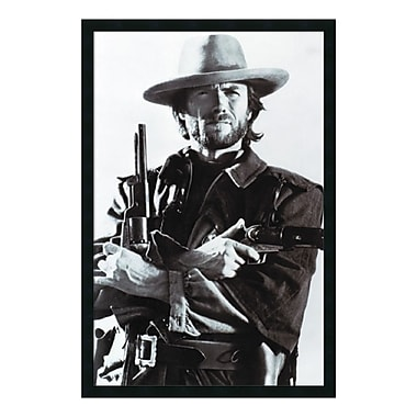 Amanti Art – Reproduction encadrée de Clint Eastwood, 26 x 38 po (DSW01588)