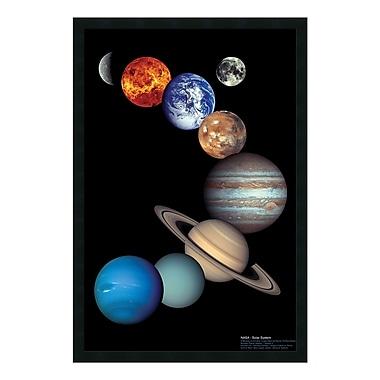 Amanti Art – Reproduction encadrée du système solaire par la NASA, 26 x 38 po (DSW01477)