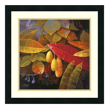 Amanti Art – Reproduction encadrée de « Tropical Leaves I » par Jung K. An, 22 x 22 po (DSW177692)