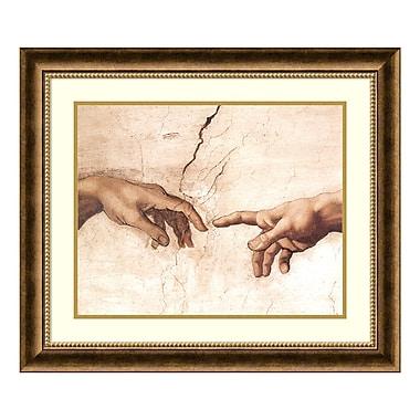 Amanti Art – Imprimé encadré « La Création d'Adam, (détail I) » par Michel-Ange, 28 x 24 po (DSW177480)