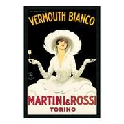 "Amanti Art Framed Art Print Martini & Rossi by Marcello Dudovich, 26"" x 38"" (DSW169876)"
