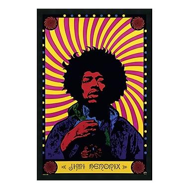 Amanti Art – Imprimé encadré « Jimi Hendrix – Psychedelic », 26 x 38 po (DSW177257)