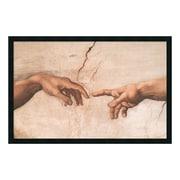 "Amanti Art Framed Art Print The Creation of Adam (Detail I) by Michelangelo Buonarroti, 38"" x 26"" (DSW169874)"