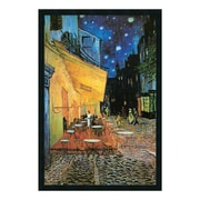 """Amanti Art Framed Art Print Cafe Terrace At Night, 1888 by Vincent van Gogh, 26"""" x 38"""" (DSW169869)"""