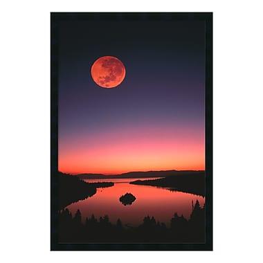 Amanti Art – Imprimé encadré « Lac Tahoe de nuit », 26 x 38 po (DSW169865)