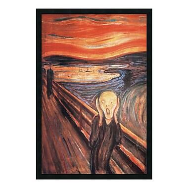 Amanti Art – Impression encadrée, « Le Cri, 1893 » par Edvard Munch, 26 x 38 po (DSW01474)