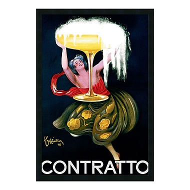 Amanti Art – Imprimé encadré « Contratto (ca.1922) » par Leonetto Cappiello, 26 x 38 po (DSW01473)