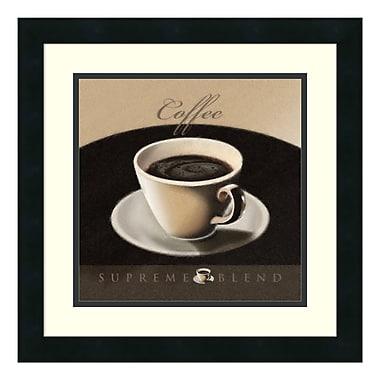Amanti Art – Imprimé encadré « Coffee » par L. Sala, 18 x 18 po (DSW176813)