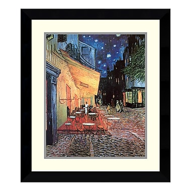 Amanti Art Framed Art Print 'Cafe Terrace At Night, 1888' by Vincent van Gogh, 24