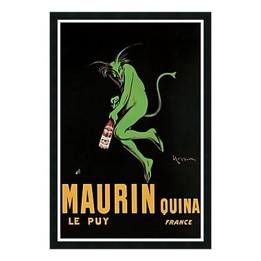 Amanti Art – Reproduction encadrée de « Maurin Quina, 1920 » par Leonetto Cappiello, 26 x 38 po (DSW01303)