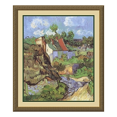 Amanti Art – Imprimé encadré « Maison à Auvers, 1890 » par Vincent Van Gogh, 26 x 30 po (DSW01400)