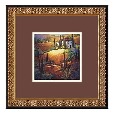 Amanti Art – Impression encadrée, Morning Light Tuscany par Nancy O'Toole, 18 x 18 po (DSW01282)