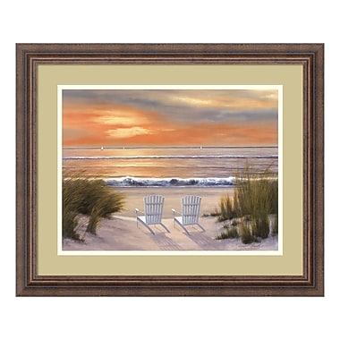 Amanti Art – Imprimé encadré « Paradise Sunset » par Diane Romanello, 23 x 19 po (DSW01248)