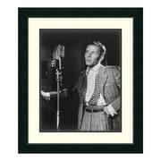 "Amanti Art Framed Art Print 'Golden Age of Jazz, Frank Sinatra' by William P. Gottlieb, 23"" x 27"" (DSW01246)"
