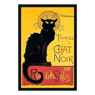 Amanti Art – Imprimé encadré « Tournée du Chat Noir » (jaune) par Théophile Alexandre Steinlen, 26 x 38 po (DSW01363)